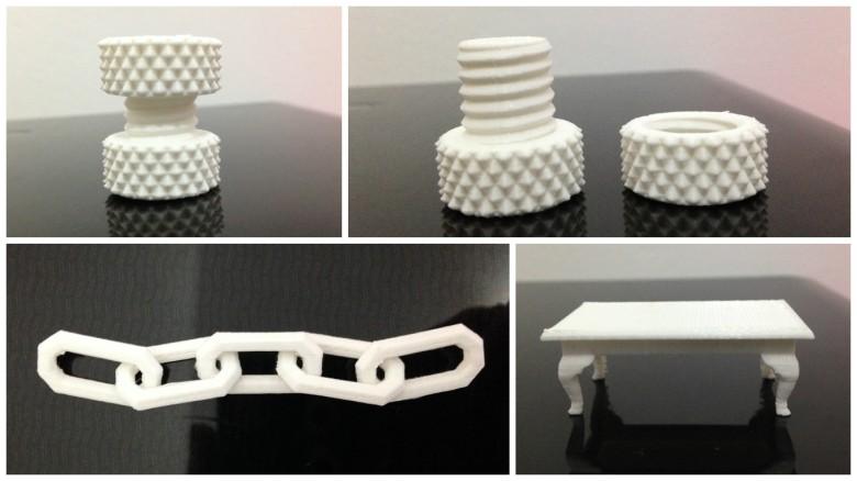 Colagem impressos 3D