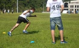 Corrida por 40 jardas também foi uma das atividades do tryout.   Foto: Andressa Zuffo.