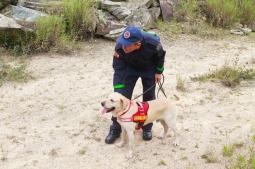Sargento Amorim e Ice durante o treinamento.