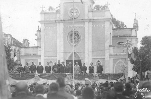 Igrejinha quando ainda era um dos principais pontos turísticos de Itajaí (Foto: Acervo histórico de Itajaí)