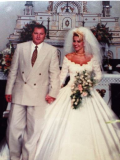Karla e Edson no dia do casamento (Foto: Arquivo pessoal)