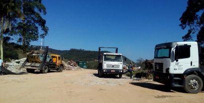 Local licenciado para depósito de RCC no bairro Canhandubas. Foto: Miriany Pimentel.