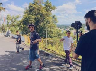 Bastidores de algumas gravações. Foto: Divulgação.